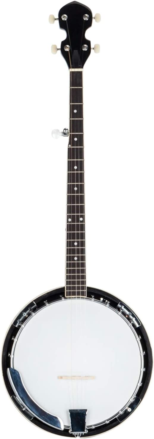 Bargain Top Deluxe Grade Exquisite Professional Wood Banjo Metal White 5-string