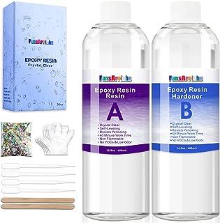 Résine époxy-800 ml / 850g résine époxy transparente pour le moulage, le revêtement, les dessus de table, la fabrication d...