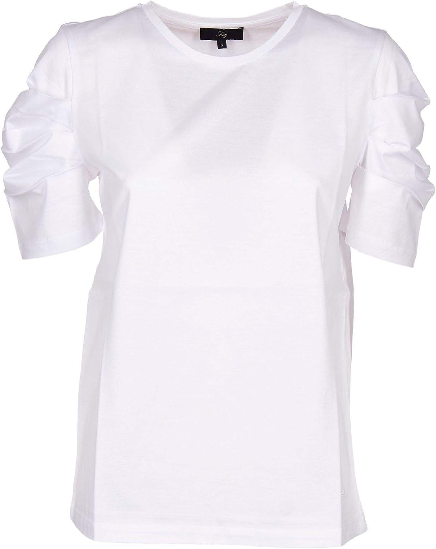 FAY Women's NPWB2386190QQBB001 White Cotton TShirt