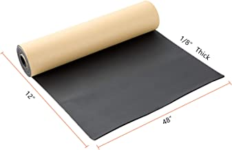 """NATGAI Sponge Neoprene with Adhesive Foam Rubber Sheet 1/8"""" Thick X 12"""" Wide X 48"""" Long, Cut to Multiple Dimensions and Lengths - DIY, Gaskets, Cosplay, Costume, Crafts"""