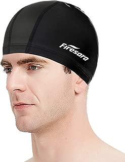 Firesara PU Fabric Swim Cap, Waterproof PU Coating...