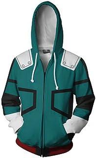 ZIFUNMUR Boku No Hero Academia My Hero Academia Izuku Midoriya Jacket Sweatshirt Cosplay Costume Hoodies