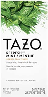 Sponsored Ad - TAZO Refresh Mint Enveloped Hot Tea Bags Herbal, Caffeine Free, Non GMO, 24 Count, Pack of 6