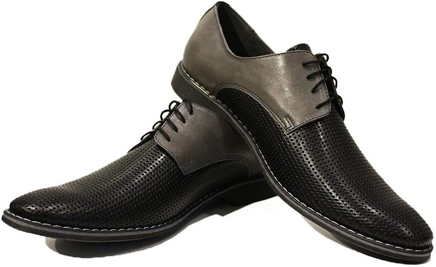 Modello Gianni - Handmade colorful Italian Leather Oxfords Unique Lace Up Dress Men's shoes