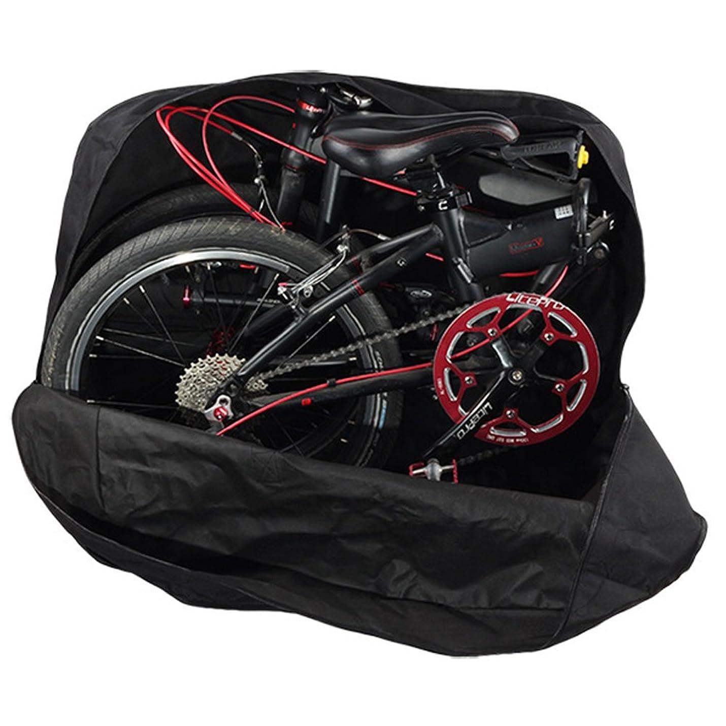 毛皮干し草だらしないYUTY 輪行バッグ 14-20インチ増加折りたたみ自転車ロードバッグ 増加 輪行袋 太い実線キャリーバッグホイールバッグ 大きい収納袋を(ポーチが付属しています)