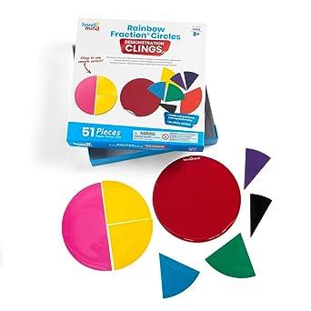 Foam Fraction Circle Homeschool Math Manipulatives Teaching Toy