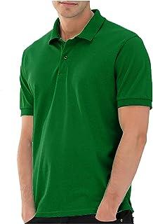 Santhome Cotton Polo Shirt for Men - Green