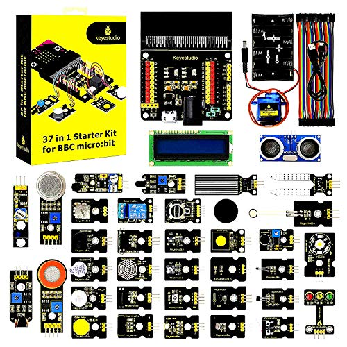 KEYESTUDIO BBC Micro:bit 37 In 1 Starter Kit with Tutorial for Early Stem Education for Beginners and Kids (Not Contained Microbit)