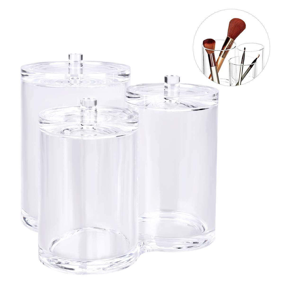 OZUAR watte Pad dispensador Kosmetex, Soporte para Discos de algodón y bastoncillos, Maquillaje Organizador de acrílico, Caja: Amazon.es: Hogar