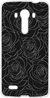 スマホケース ハードケース LG isai vivid LGV32 用 [型押し風・黒薔薇] 花柄 ローズ エルジー イサイ ビビッド au スマホカバー 携帯ケース 携帯カバー bara_00r_h170@05