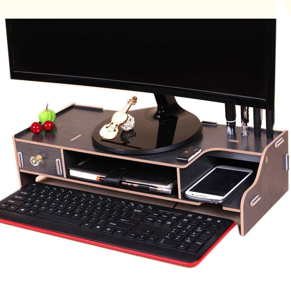 Amazon.com: DUzhen Monitor Wooden Stand Computer Desk Organizer