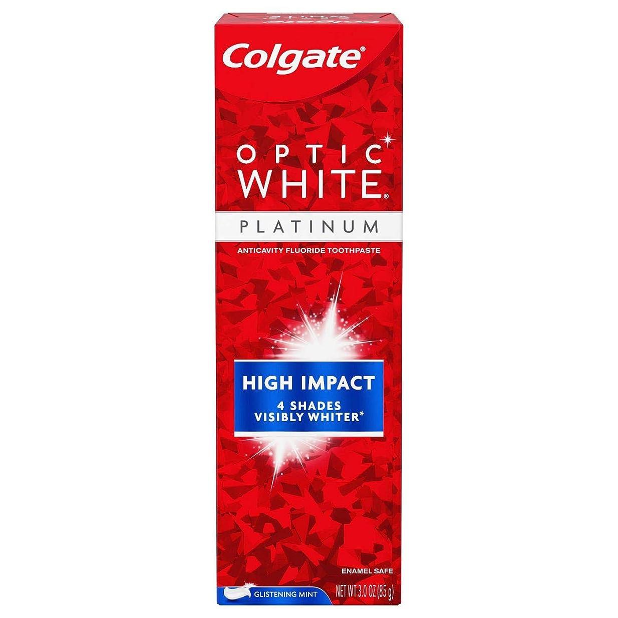 恐れるオーブン医師Colgate Optic White High Impact White 練り歯磨き [並行輸入品]