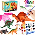 Ingreen Kids Crafts and Arts Supplies Painting Kit - Art and Craft Set DIY Your Own Dinosaurs Toy with Bib, Party Favors Table Game Activities Birthday Gift for Boys and Girls Age 4 5 6 7 8 Years Old