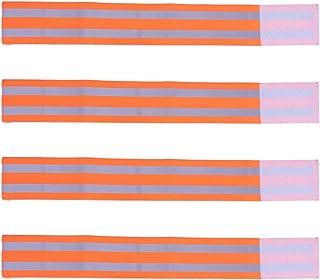 10pcs PVC Reflect Light Wrist Band Night Running Reflective Bracelets Safety