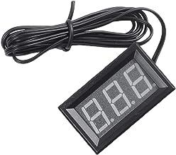 Facibom 5-12 V - 50-110 grados C termómetro digital termómetro refrigerador temperatura detector con sonda [paralelo importado] azul