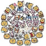 FENGLING Cartoon Winnie The Pooh Sticker Anime Decal Wall Sticker Children Gift Reward Room Decoration 40 Pieces