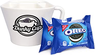 Dunky Cup - For Dunking Sandwich Cookies (Oreos) in Milk, Snacks, More! (1, blue pkg)