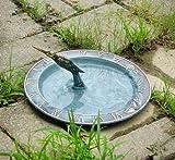 Brass Hummingbird Birdbath & Birdfeeder & Sundial (Multi-Function)