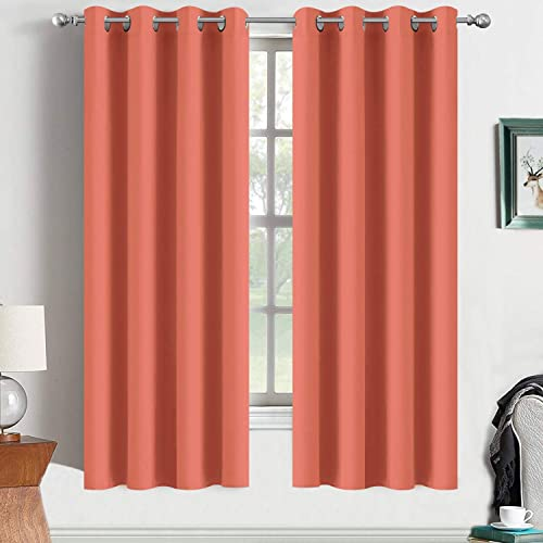 Better Curtains Chevron Curtains Striped Curtains 2 Panel Set Coral White Turquoise Gray