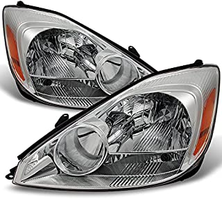 For Toyota Sienna Van Halogen Type Front Headlights Head Lamps Replacement Left + Right Pair Set