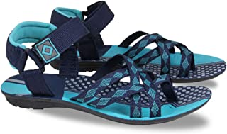 FABBMATE Denim Look 217 Casual PU Sandals for Men Color Blue/Grey