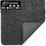 Gorilla Grip Original Indoor Durable Chenille Doormat, Large, 36x24, Absorbent, Machine Washable Inside Mats,...