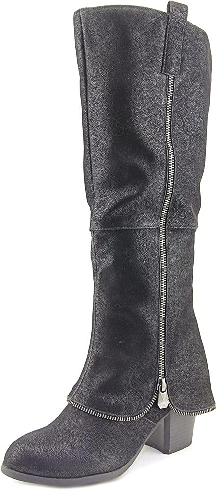 Fergalicious Womens tuneup Fabric Almond Toe Mid-Calf Fashion,