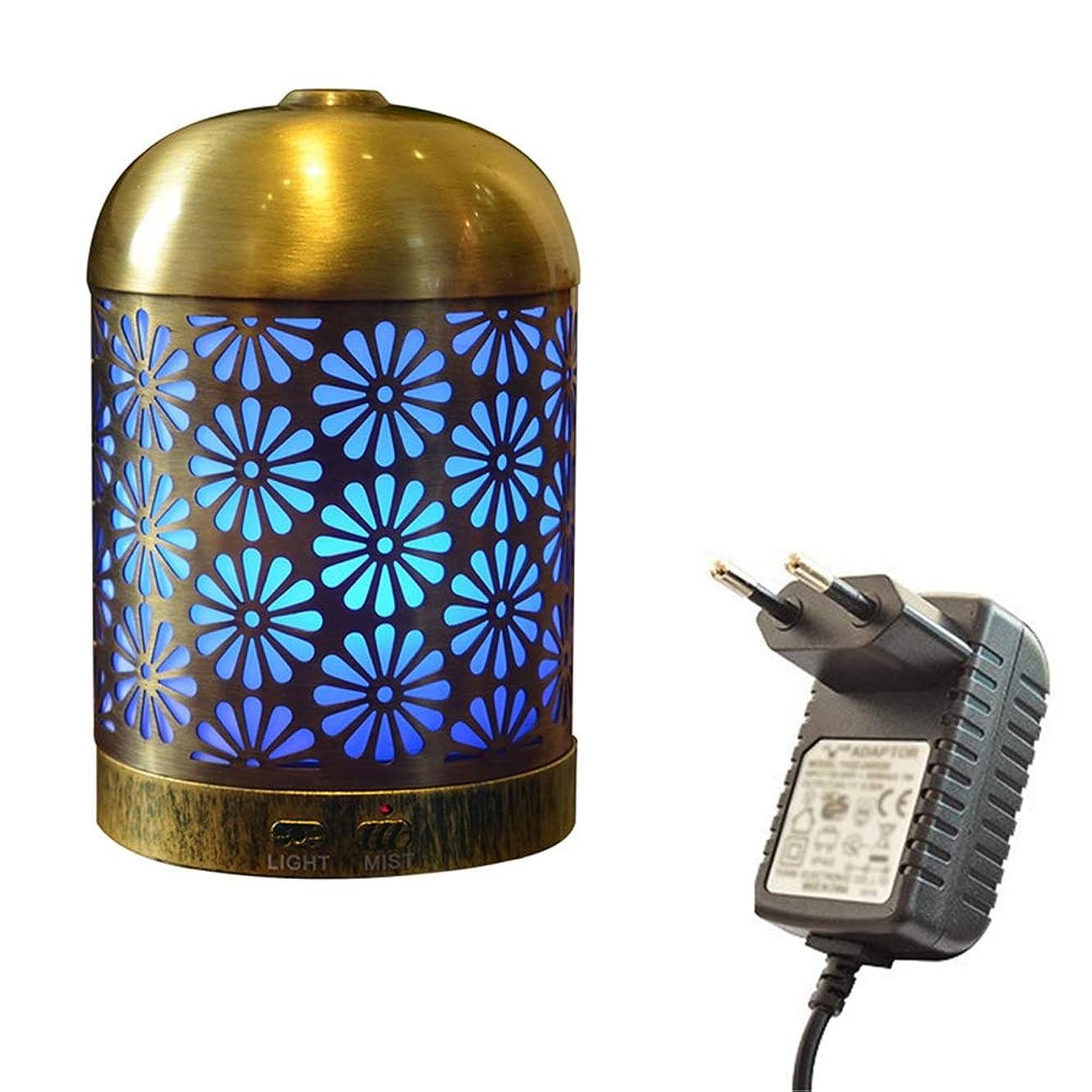 相互秀でる咽頭プレミアムアイアンアロマセラピーディフューザー、超音波クールミストエッセンシャルオイルディフューザー、7色LED用ホーム、スパ