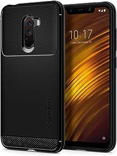 Spigen S23CS25224 robust rustning för Xiaomi Pocophone F1 fodral TPU silikon snygg koldesign skyddande fodral – svart