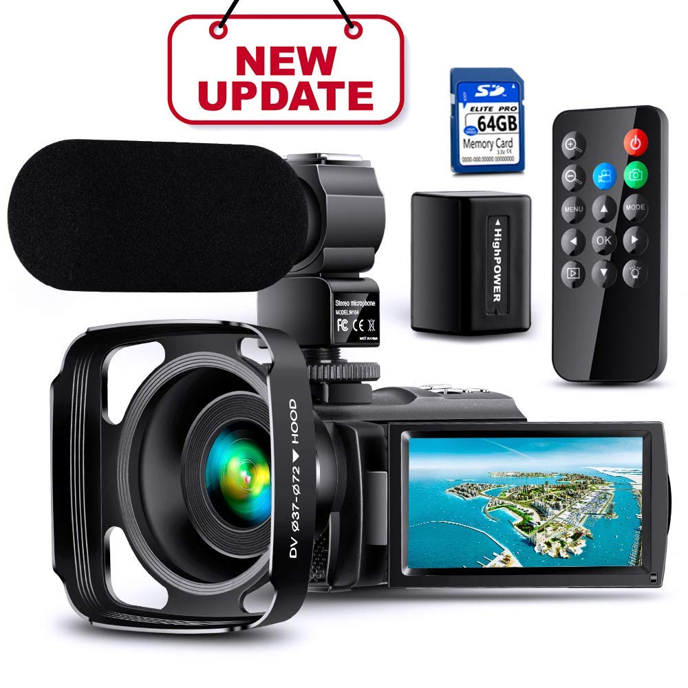 Upgrade%E3%80%91Ultra Camcorder Rechargeable Microphone Vlogging