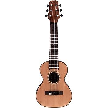 Andoer- guitarra guitalele de 71 cm, guitarra de viaje, guitarra de cedro macizo, diapasón de palisandro, puente, instrumento de cuerda, con EQ 3 bandas, caja grande, cable de audio, arnés