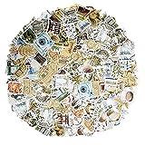 276pcs Sellos de pegatinas vintage Pegatinas de álbum de recortes para álbum de recortes Calendario Cuaderno Diario Álbum de fotos Decoración de bricolaje, Viajes, Estilo retro, Café, Edificio