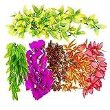 Phrat Plantas artificiales con ventosa para acuario, plantas subacuáticas, decoración acuática, flores decorativas para acuario, decoración subacuática