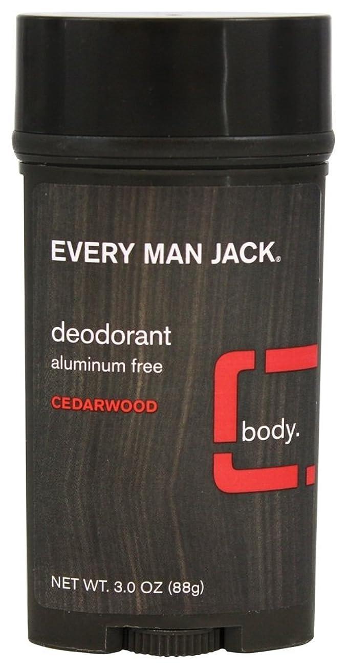 博物館ワックス有望Every Man Jack - 防臭剤棒アルミニウムはCedarwoodを放す - 3ポンド [並行輸入品]