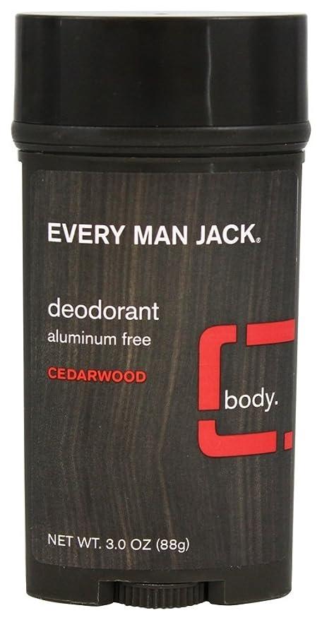 居眠りする精度ガラガラEvery Man Jack - 防臭剤棒アルミニウムはCedarwoodを放す - 3ポンド [並行輸入品]