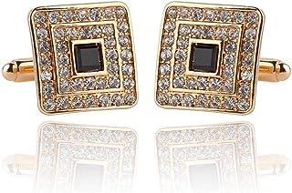 MINGHUA Fashion Square Cubic Zircon Plus Crystal Personality 2 PCS Mens Shirts Cufflinks