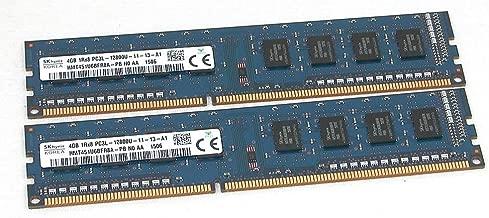 2 x 4GB (8GB Total) SK Hynix HMT451U6BFR8A-PB PC3L-12800U 1Rx8 Desktop Memory