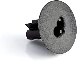THE CIMPLE CO - Dual Feed Thru Bushing - (Black) RG6 Feed Through Bushing (Grommet) Replaces Wallplates (Wall Plates) for Coax Coaxial Cable, Network Cable, CCTV - Indoor/Outdoor Rated – 10 Pack