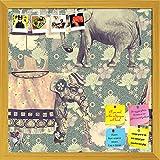 ArtzFolio Indian Elephants D3 Printed Bulletin Board Notice Pin Board Soft Board | Golden Frame 20 X...