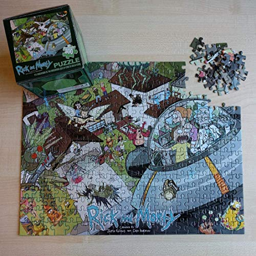 Loot Crate May 2015 Rick and Morty 11in X 14in 300pc Puzzle by Cardinal Industries