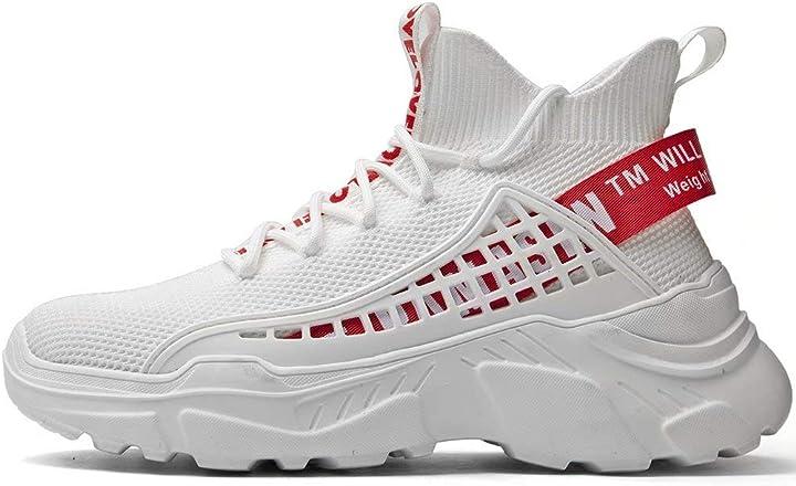 Scarpe donna sannax alte sportive casual moda sneakers passeggio fitness traspiranti comode B085BYP4WL