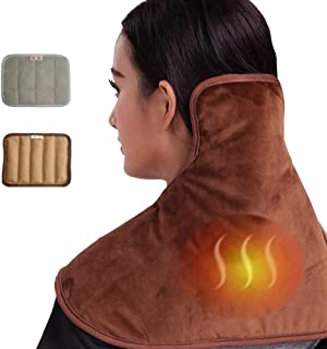 CCOOL Electric Heat Pads Pain Relief,Electric Back Warmer,for Shoulder Neck Back with 5 Heat Settings, Overheating Protection,Machine Washable