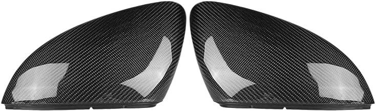 Keenso Carbon Fiber Mirror Cover for VW Golf, Rearview Side Mirror Cap Side Mirror Cover Trim for VW Golf MK7/GTI/R 13-18