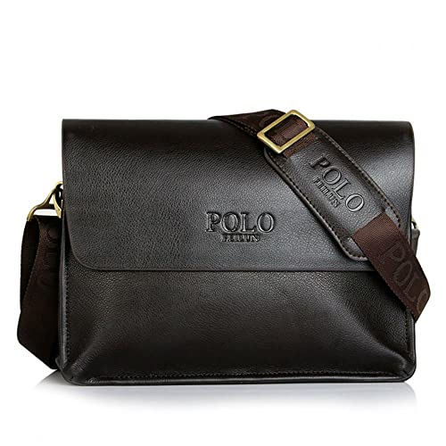 POLO FEILUN Men s Genuine Leather Shoulder Bag Messenger Crossbody Bags  Briefcase Business Composite Leather Classic Casual ecdf7ab8bb918