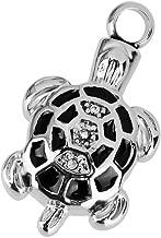 Tortoise Turtle Shape Cremation Urn Container Memorial Pendant Necklace