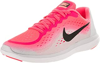 Girl's Flex RN 2017 (GS) Running Shoe Racer Pink/Black/Pure Platinum/Lava Glow Size 5 M US