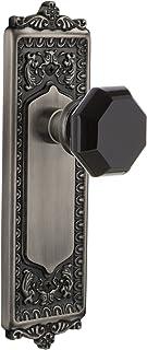 Nostalgic Warehouse 724523 Egg & Dart Plate Privacy Waldorf Black Door Knob, Antique Pewter, Privacy - 2.75
