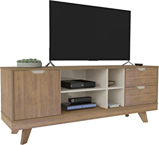 Artely Michigan Tv Table for 60 inch TV, Pine with Off White - W 160 x D 41.5 x H 63 cm