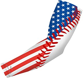 Sports Compression Arm Sleeve - Youth & Adult Sizes - Baseball Football Basketball Sports (1 Arm Sleeve)
