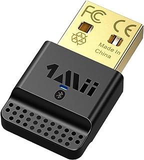 1Mii 2020 Bluetooth アダプタ USB bluetoothアダプタ コントローラー用/ワイヤレス ブルートゥース マウス/キーボード/イヤホン/パソコン/PC用 edr le対応 省電力 超小型 ver4 0 aptx cla...
